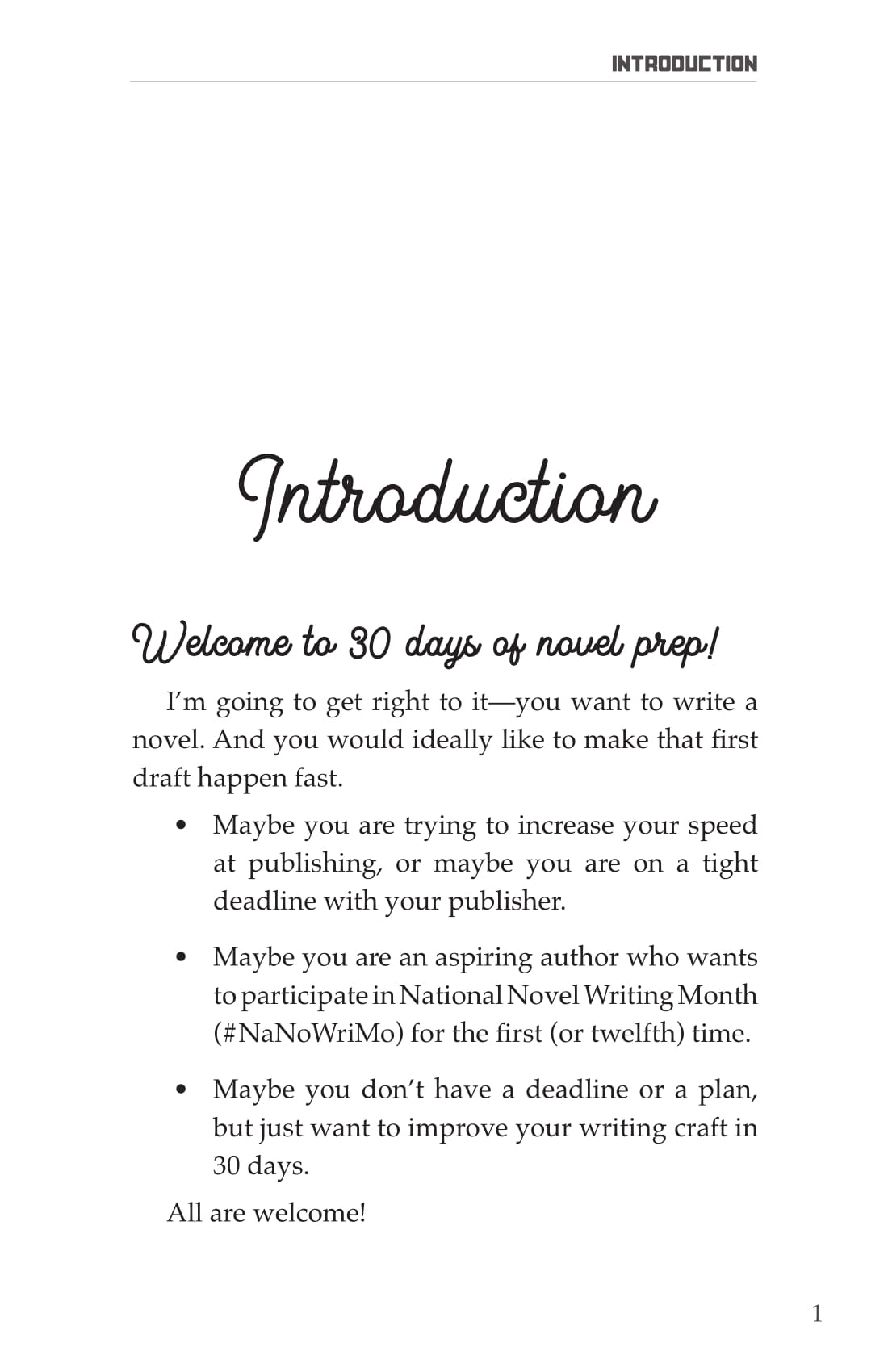 Novel Writing Prep Introduction-1